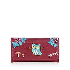 Mantaray - Pink applique owl large purse