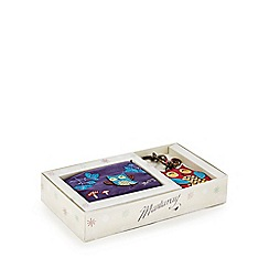 Mantaray - Purple owl coin purse and keyring gift set