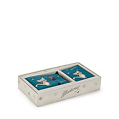 Mantaray - Turquoise cat coin purse and card holder gift set