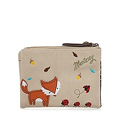 Mantaray - Natural fox and ladybird small purse