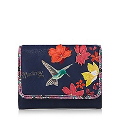 Mantaray - Navy hummingbird medium purse