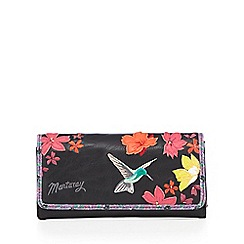 Mantaray - Black hummingbird large flap over purse