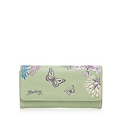 Mantaray - Light green butterfly large purse