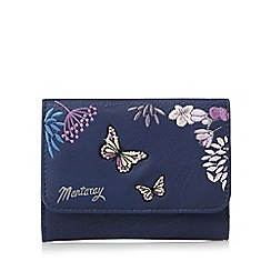 Mantaray - Navy butterfly medium purse