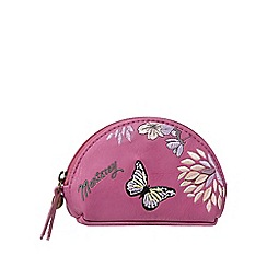 Mantaray - Pink butterfly dome coin purse