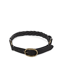 Mantaray - Black weave-effect belt