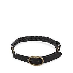 Mantaray - Black weave-effect belt