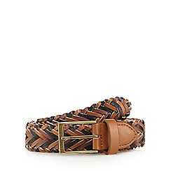 Mantaray - Tan multi weave belt