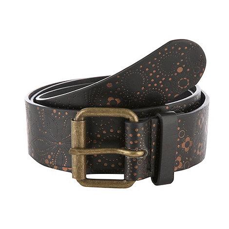 Mantaray - Brown embossed foil belt