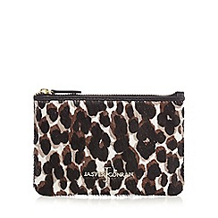 J by Jasper Conran - Brown leopard coin purse