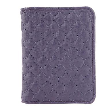 Purple Quilted Travel Card Purse