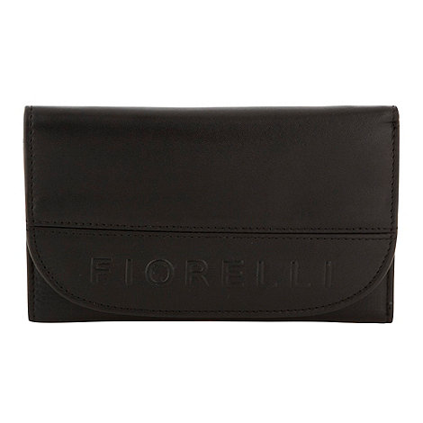 Fiorelli - Black medium embossed logo purse