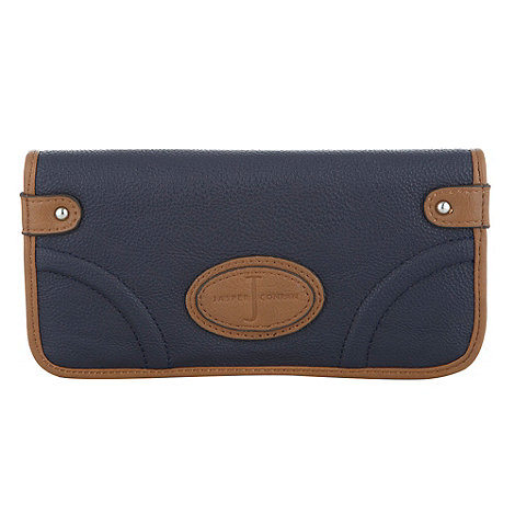 J by Jasper Conran - Designer navy contrasting trim flap over purse