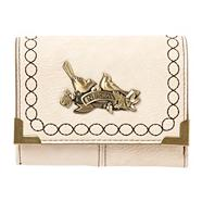 Cream Small Stitched Border Purse