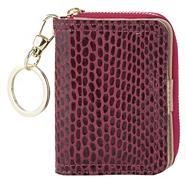 Pink Mock Snakeskin Travel Card Purse