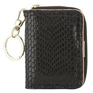 Black Mock Snakeskin Travel Card Purse