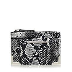 Red Herring - Grey metal corner coin purse