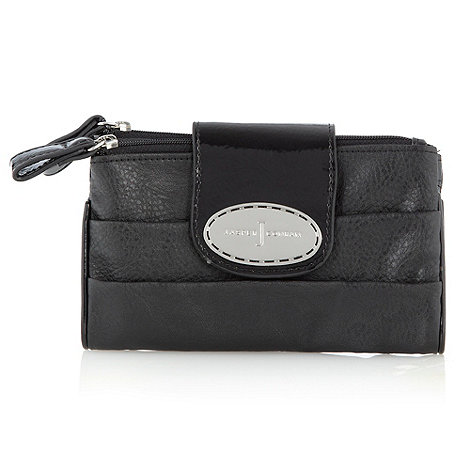 J by Jasper Conran - Designer black soft pleated flapover purse