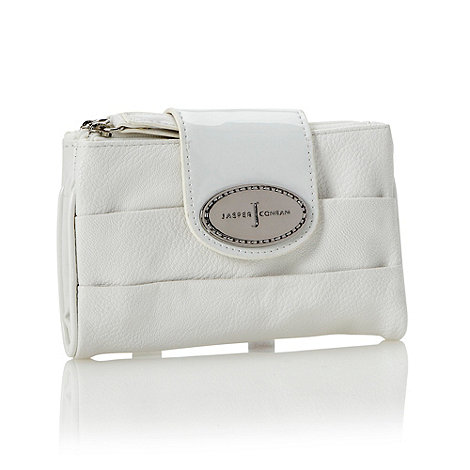 J by Jasper Conran - Designer white pleated flapover purse