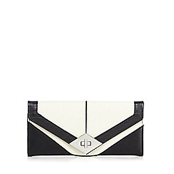 Principles by Ben de Lisi - Off white colour block twist and lock purse