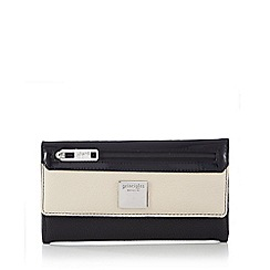 Principles by Ben de Lisi - Black colour block foldover purse