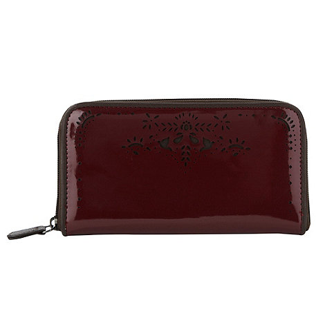 Nica - Wine patent zip around purse