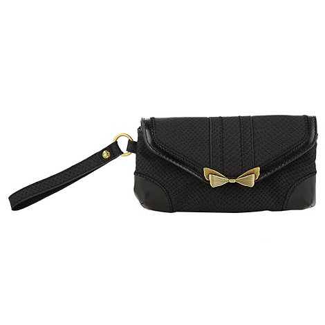 Nica - Black bow clasp envelope purse