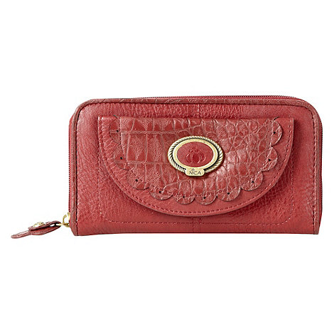 Nica - Red +enka+ large zip around purse