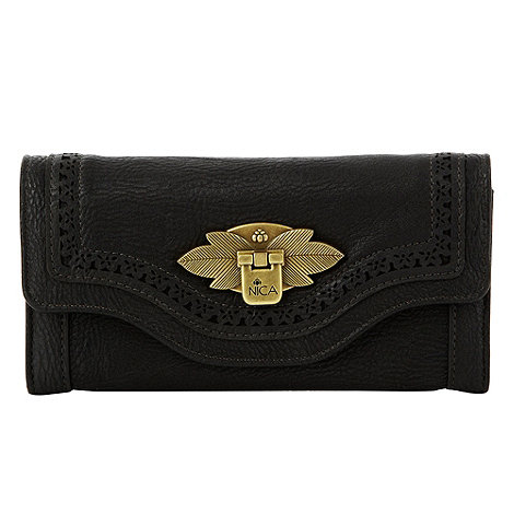 Nica - Black large cutout trim purse