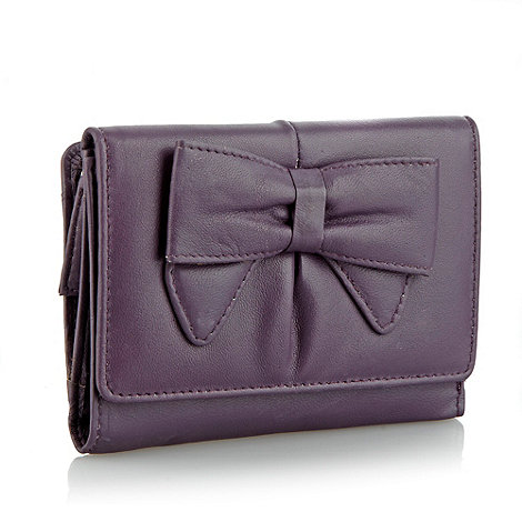 The Collection - Purple leather medium bow purse