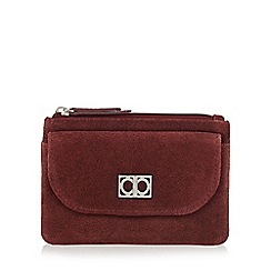 The Collection - Dark red suede coin purse