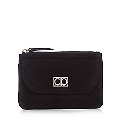 The Collection - Black suede front pocket detail purse