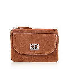 The Collection - Tan suede front pocket detail purse