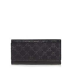 The Collection - Black leather stitch large purse