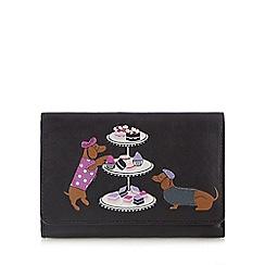 The Collection - Black applique dog purse