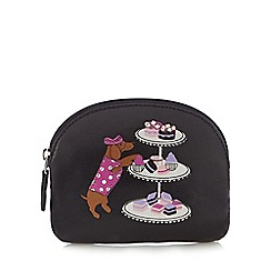 The Collection - Black applique dog purse