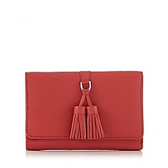 The Collection - Red tassel detail leather purse