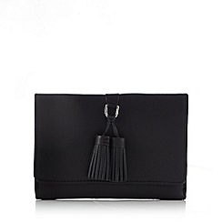 The Collection - Black tassel detail leather purse