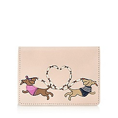 The Collection - Light pink sausage dog love applique card holder