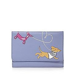 The Collection - Lilac sausage dog balloon applique medium flap over purse