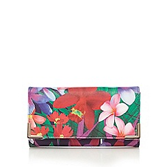 The Collection - Navy floral print flap over purse