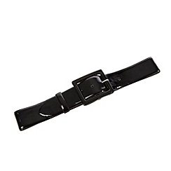 The Collection - Black patent buckle belt