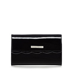 The Collection - Black scalloped medium purse