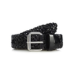 The Collection - Black patent woven belt