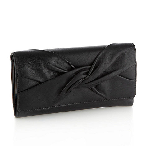 RJR.John Rocha - Designer black knotted flap purse