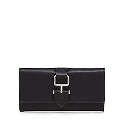 The Collection - Black buckle detail fold over purse