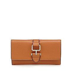 The Collection - Tan buckle detail fold over purse