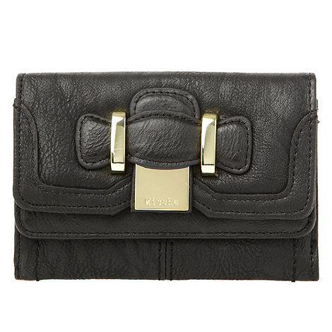 Mischa Barton - Black trifold buckle purse