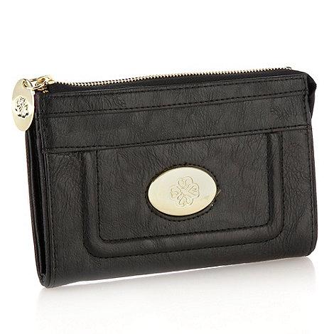 Mischa Barton - Black leather look zip top purse