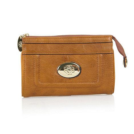 Mischa Barton - Tan logo front purse